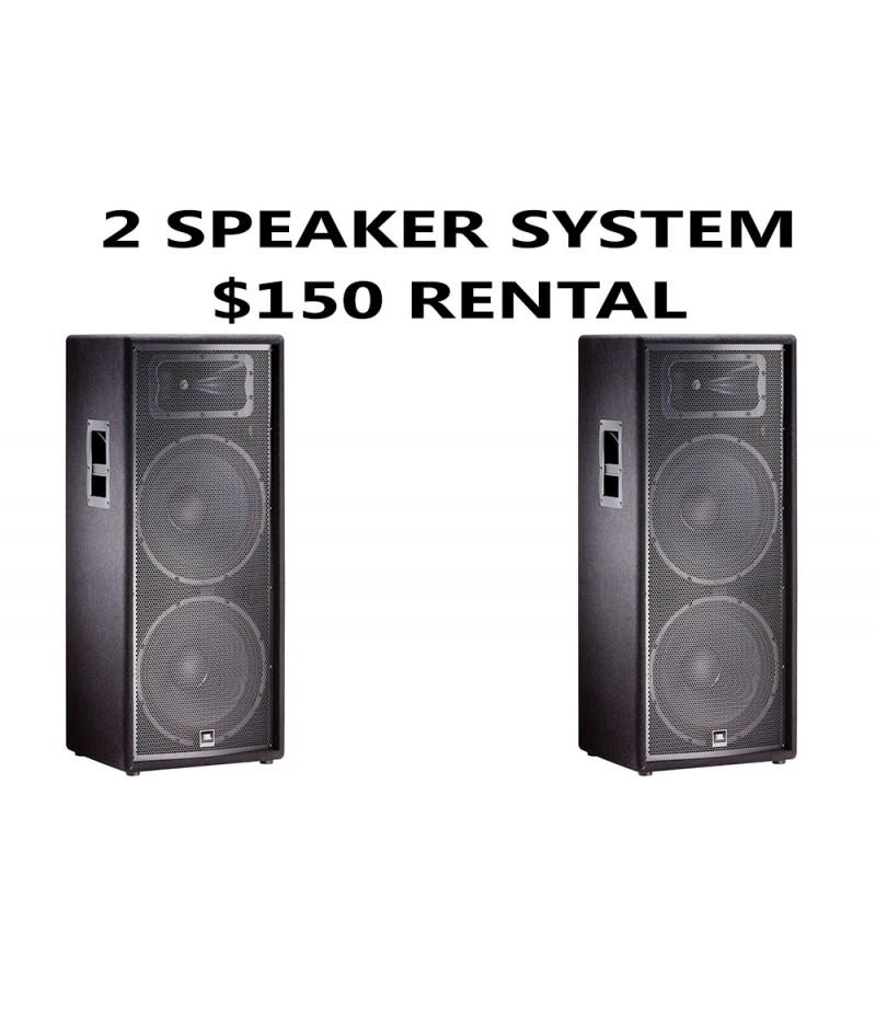 2 JBL SPEAKER PACKAGE