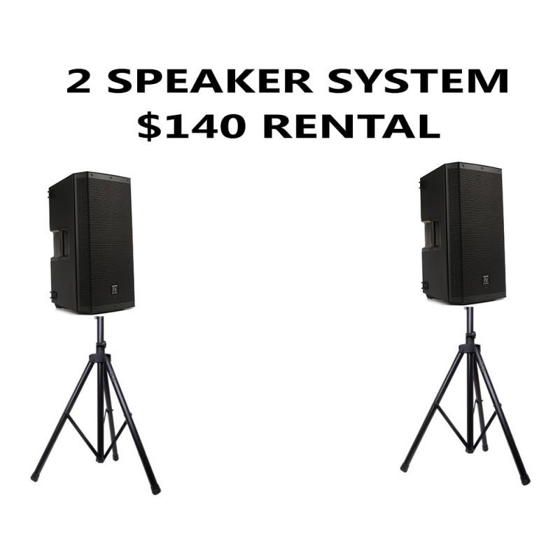 2 EV SPEAKER PACKAGE