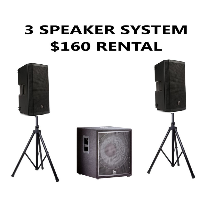 3 SPEAKER PACKAGE WITH 1 SUBWOOFER