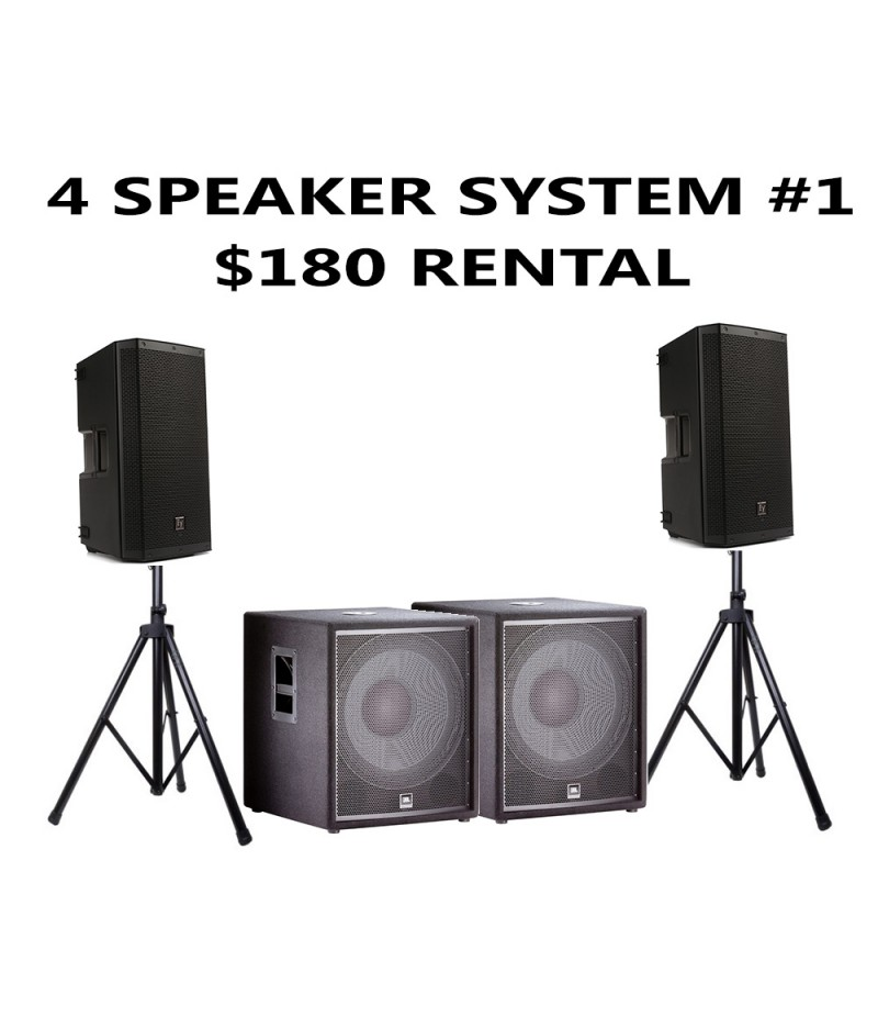 4 SPEAKER PACKAGE WITH 2 SUBWOOFER