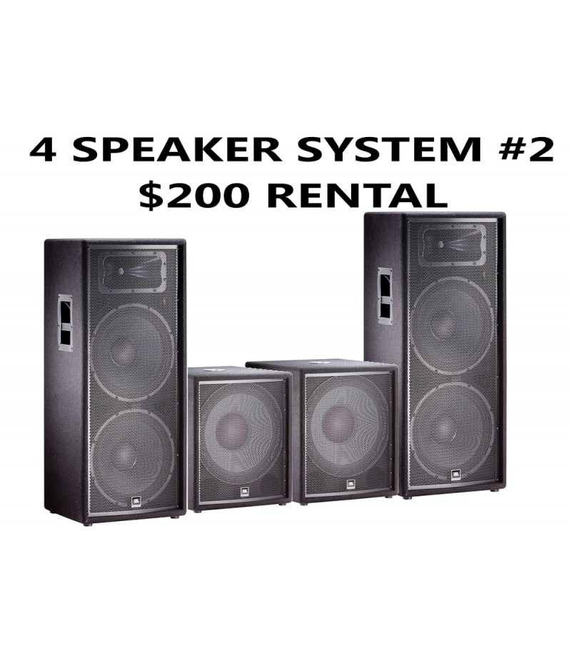 4 SPEAKER PACKAGE JBL WITH 2 SUBWOOFER