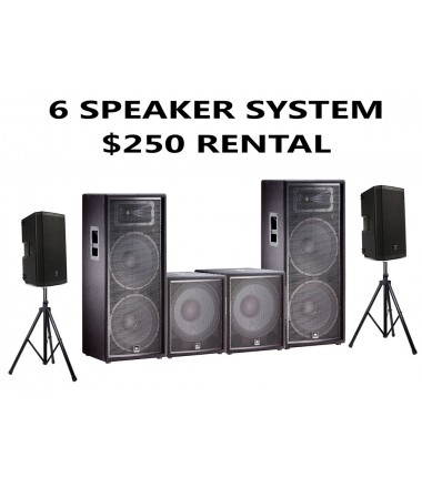 6 SPEAKER PACKAGE JBL WITH 2 SUBWOOFER AND 2 EV 12 HIGHS
